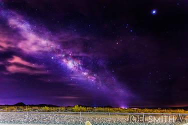 Milky Way - Nevada Searchlight @4:33am by Anipai