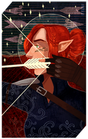 Commission: Itylra tarot by RedlyJester