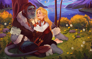 Commission: Magnus and Solveig by RedlyJester