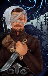 Commission: Bjorn Storm tarot by RedlyJester