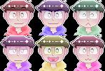 [Osomatsu-San] Pixel Icons [F2U] by Rinn-y