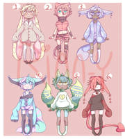 [ADOPTABLES] Group Adopts [OPEN] [SET PRICE] by Rinn-y