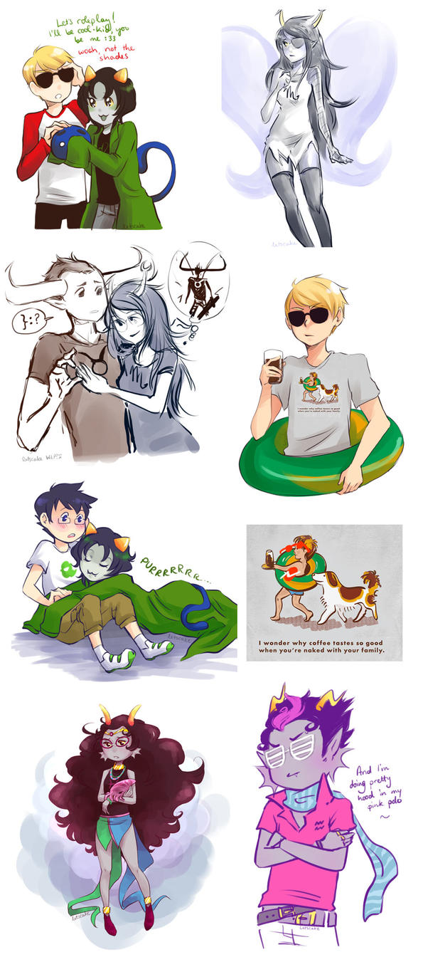Homestuck Doodles by sillyapple