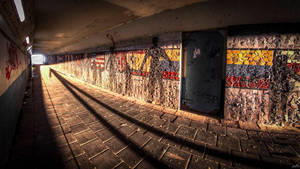 Bomb shelter in railway tunnel