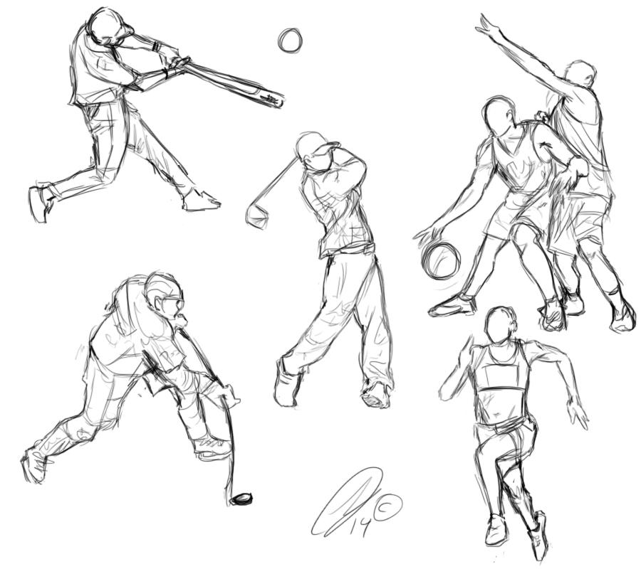 sports sketches sketch gesture foot deviantart template