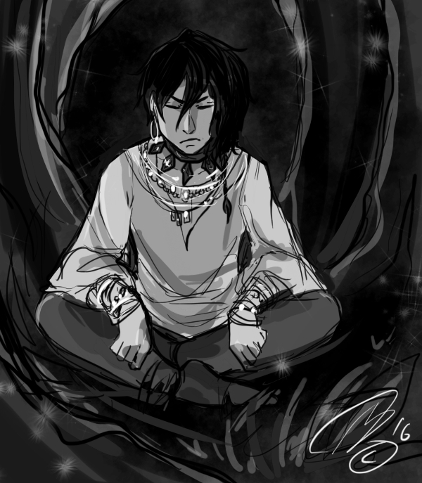 Joel Trying to Meditate by Silverlykta