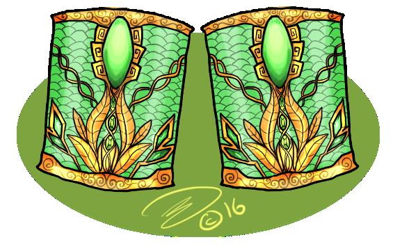 Ridges Jewelry - Jade Bracers by Silverlykta