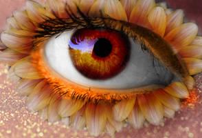 Pretty Flower Eye by LT-Arts
