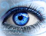 Blue Heart Eye