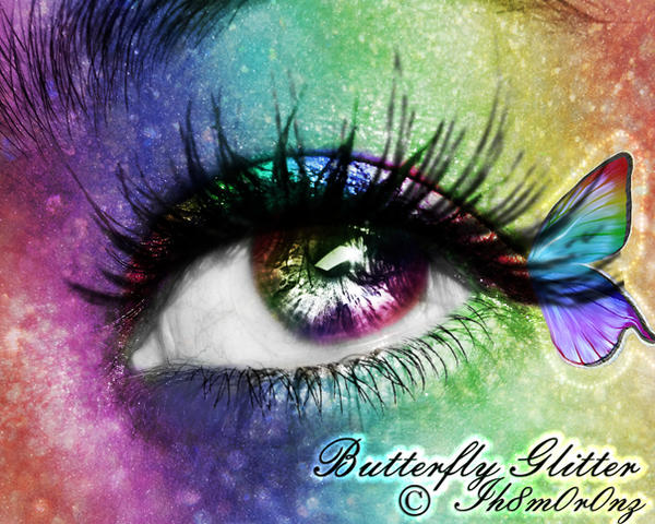 Butterfly Glitter by LT-Arts