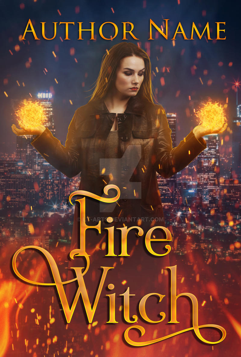 Fire Witch - Premade Book Cover