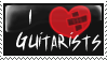 I :heart: Guitarists stamp by invader-zim-14