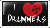 I :heart: Drummers stamp by invader-zim-14