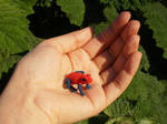 Strawberry poison dart frog (OOAK)