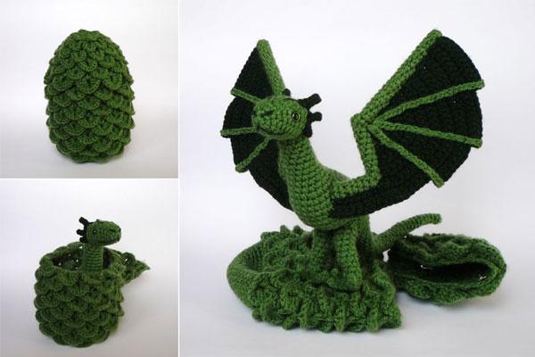 Amigurumi Dragon Wings : Hatching dragon by lunascrafts on deviantart