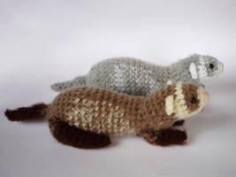 Ferrets by LunasCrafts