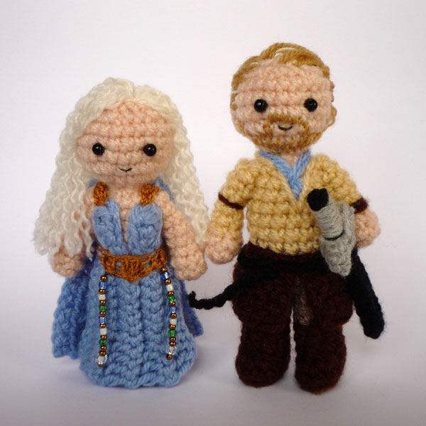 Free Crochet Pattern Game Of Thrones : Dany and Jorah by LunasCrafts on deviantART