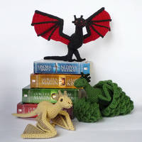 Drogon, Viserion and Rhaegal by LunasCrafts