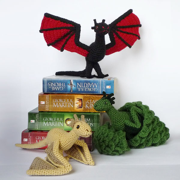 Crochet Patterns Game Of Thrones : Drogon, Viserion and Rhaegal by LunasCrafts on DeviantArt