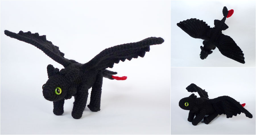 Amigurumi Toothless : Toothless the night fury by lunascrafts on deviantart
