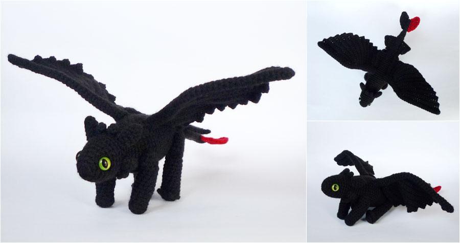 Baby Toothless! | Crochet toothless, Baby toothless, Crochet dinosaur | 475x900