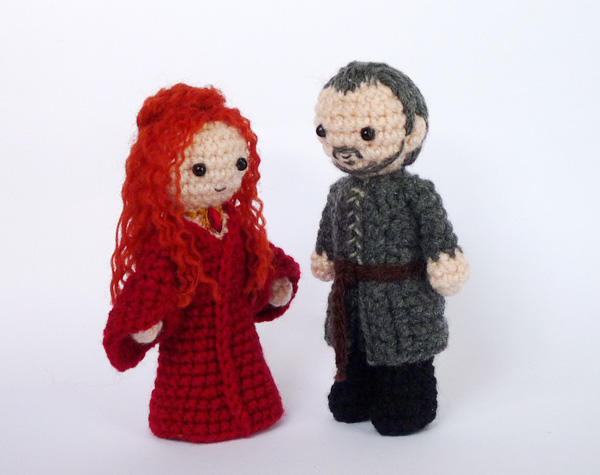 Melisandre and Stannis by LunasCrafts