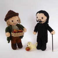 Dibbler and Vetinari by LunasCrafts