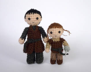 Gendry and Arya by LunasCrafts