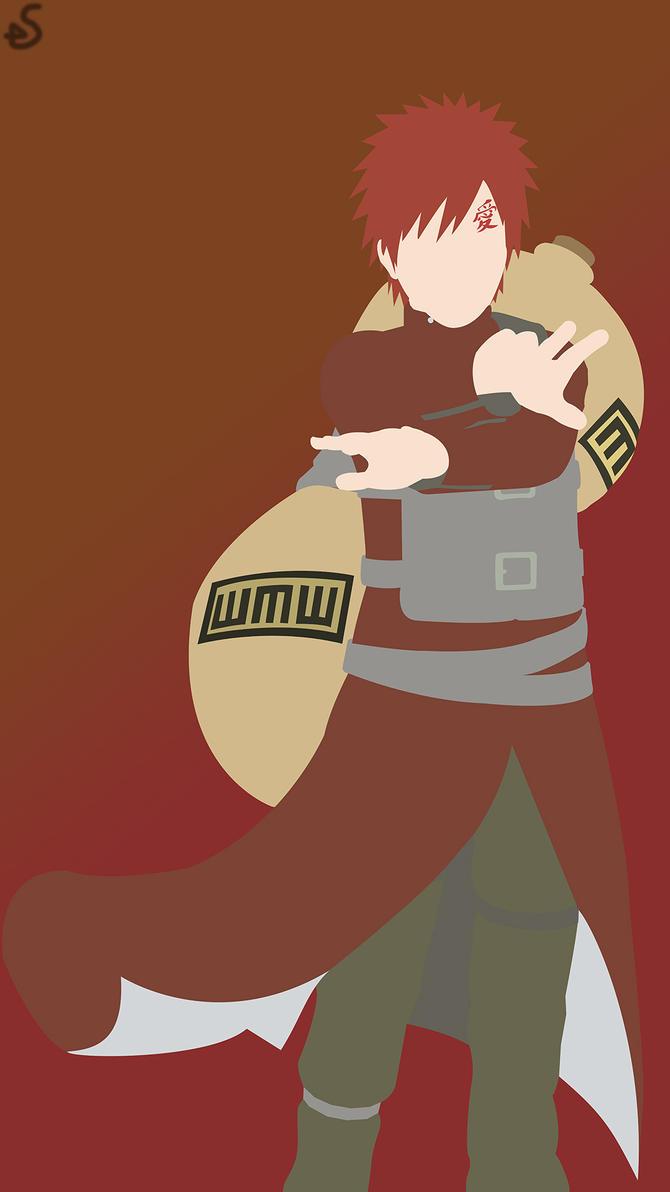 gaara of the desert naruto phone wallpaper by