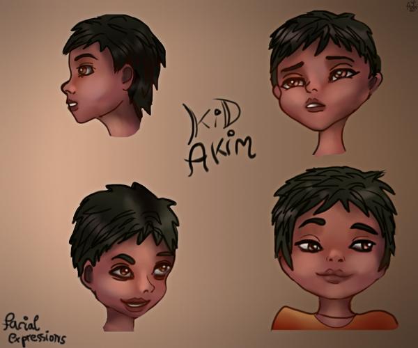 Kid Akim Expressions by AndreeaLupsaNL