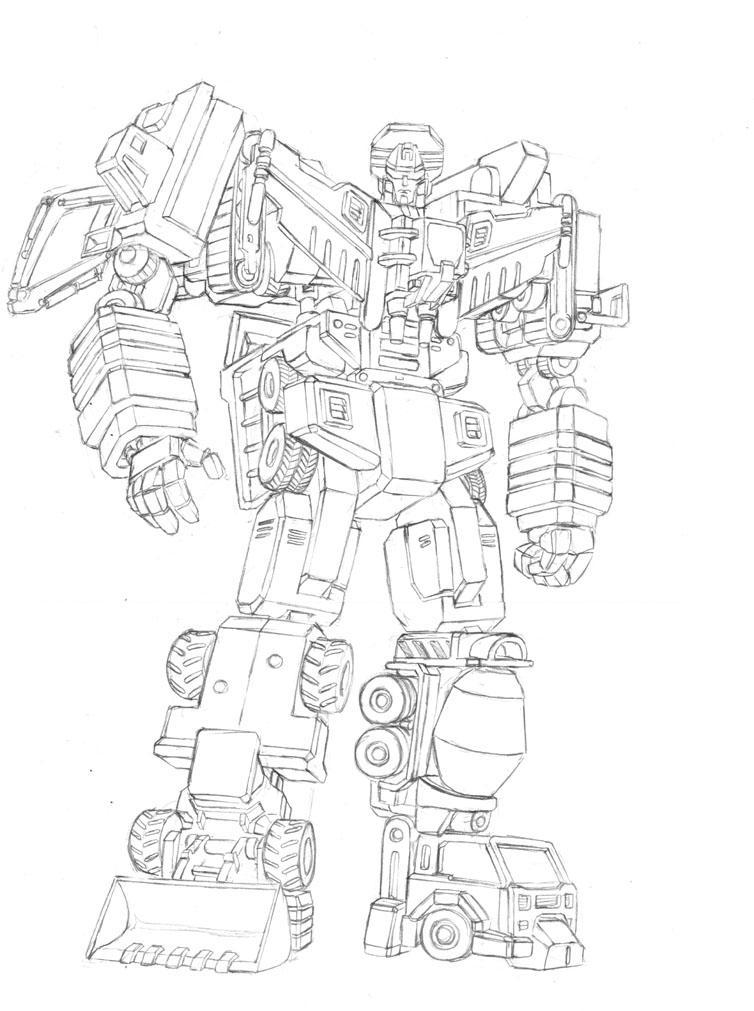 devastator transformer coloring pages - photo#15