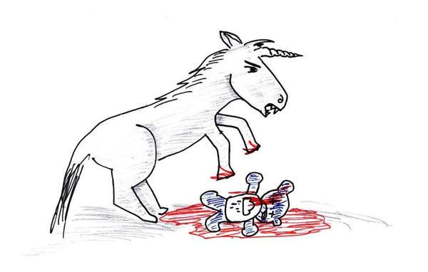Evil Unicorn - Evil Unicorn - T-Shirt | TeePublic