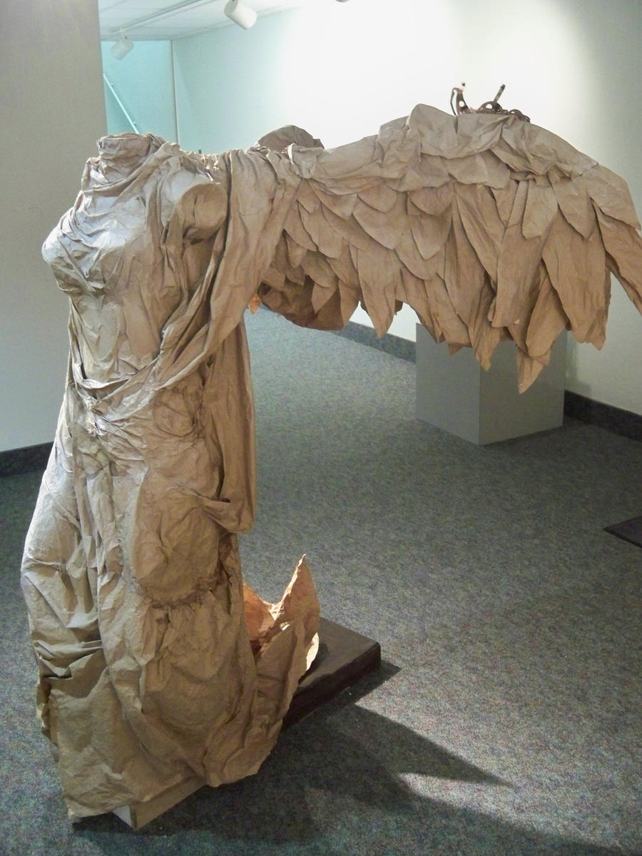paper sculpture vikky by grumphyfl