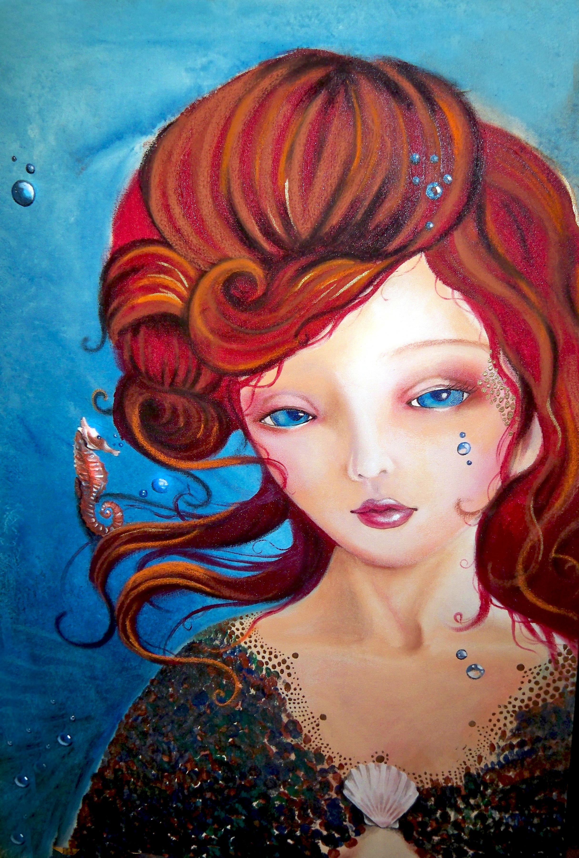 Mermaid Bust by grumphyfl