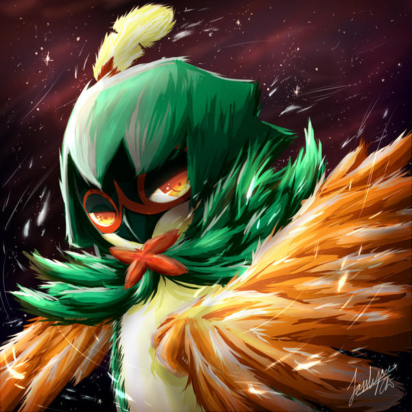 rowlet_s_3rd_evolution__decidueye_by_jas
