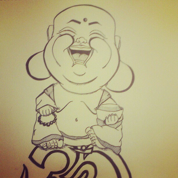 laughing buddha drawing - photo #21