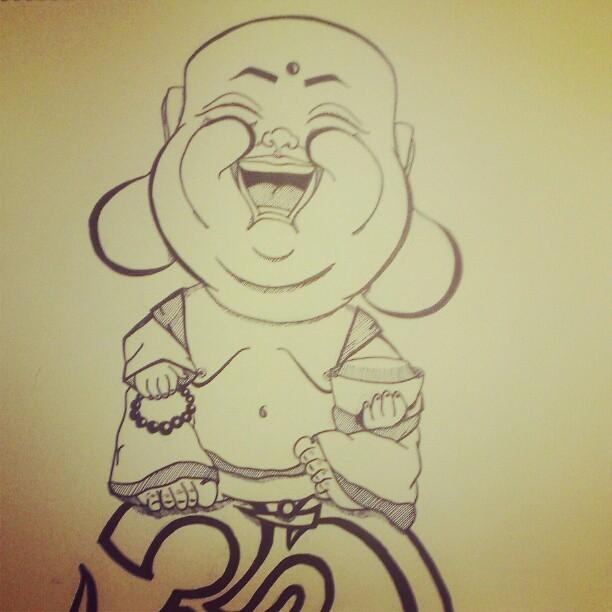 laughing buddha drawing - photo #21