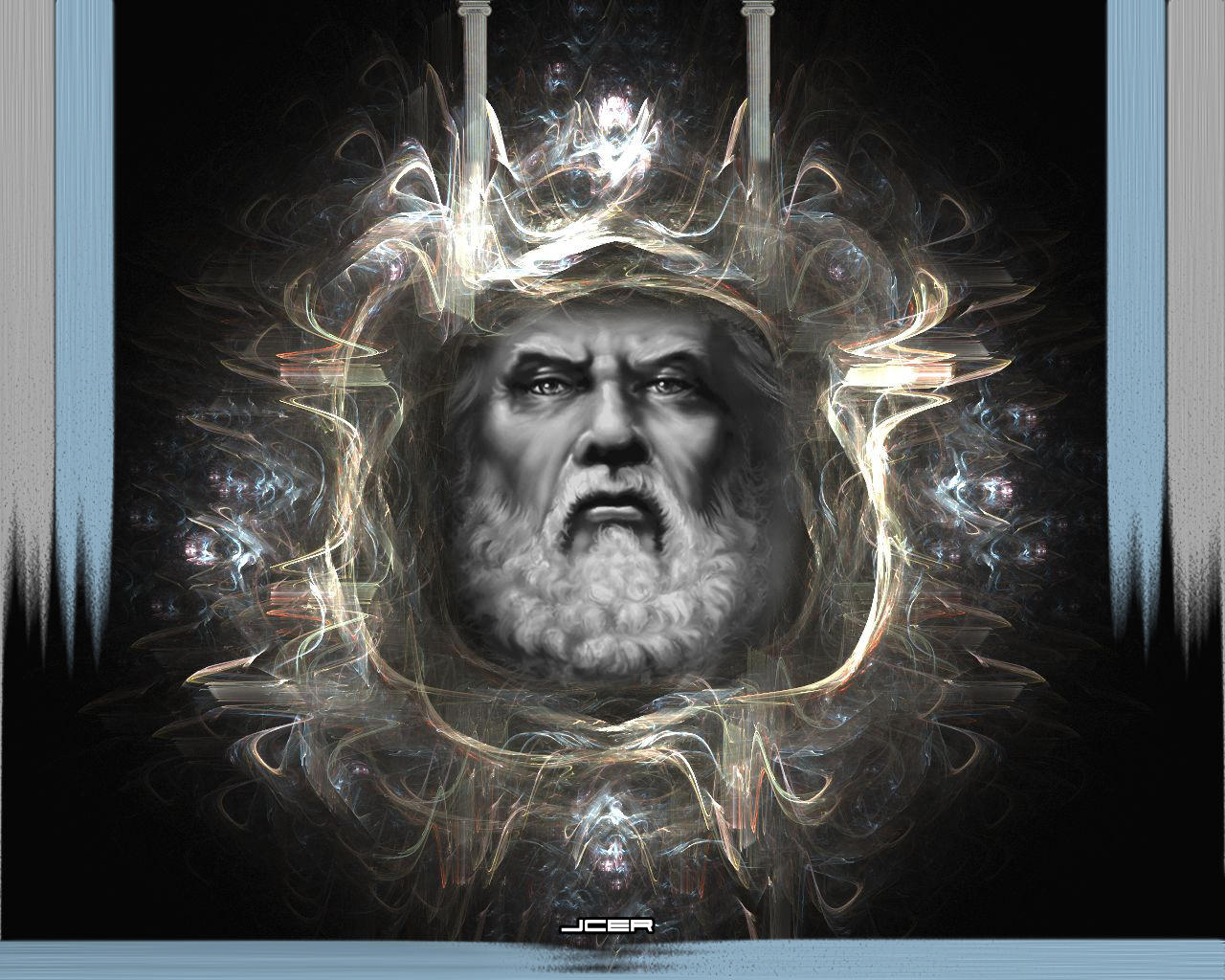 jcer--Wrath of the God... Zeus Digital Painting