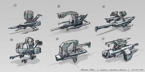 Spaceship Thumbnail Designs
