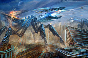 Alien Giant Insect Invasion by minifong