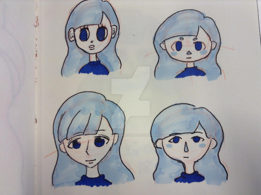 Messing around with different art styles by nekomarshmallow999