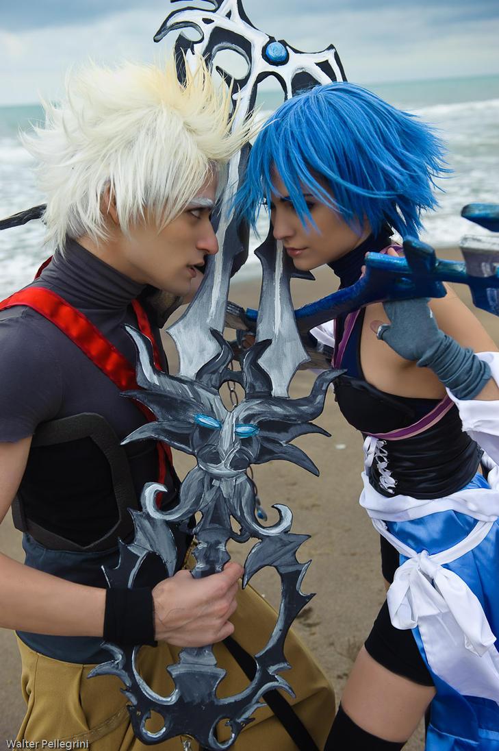 Terranort and Aqua Cosplay by Eyes-0n-Me