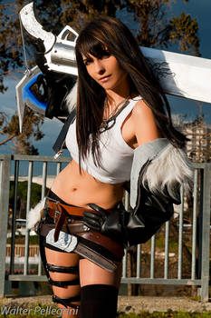 Rinoa with Squall's outfit