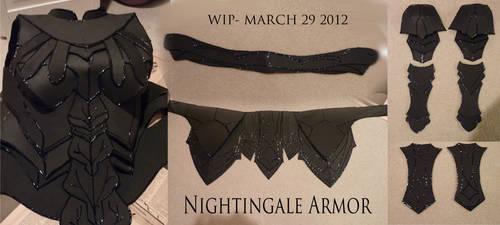 Nightingale Armor WIP Compilation 1 by Eldunayri