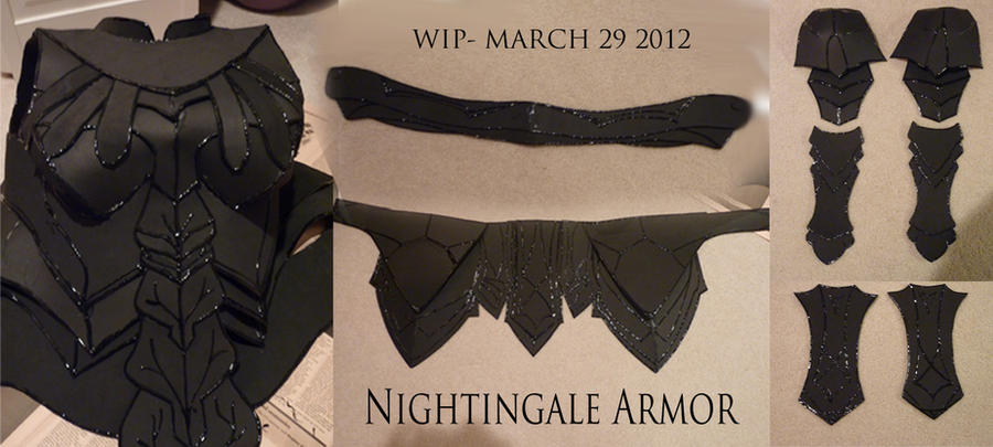 Nightingale Armor WIP Compilation 1 by Eldunayri