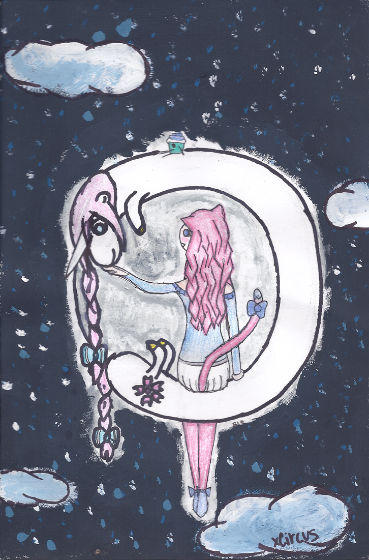 Adventure Time pretty moon by xAnime,Circus