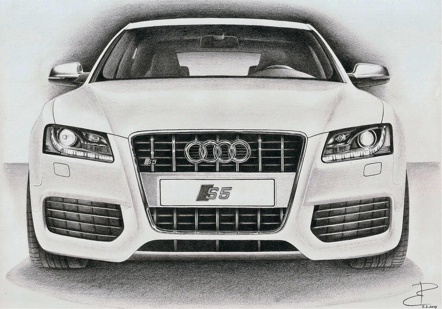 White Beast Audi S By PavolBosik On DeviantArt - Audi car drawing