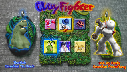 ClayFighter Reboot Character Select MOCKUP