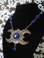 Triple Moon Necklace by Ravens-nest-witchery