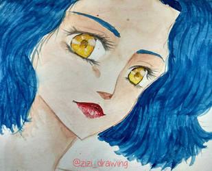 Blue Short Hair  by ZiZiSalas